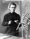 Madam Curie photo B&W